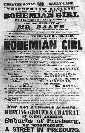 The Bohemian Girl opens
