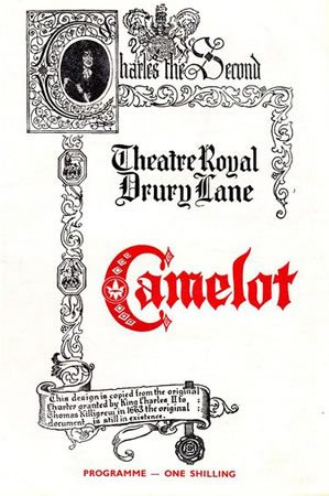 The original London production of 'Camelot' opens
