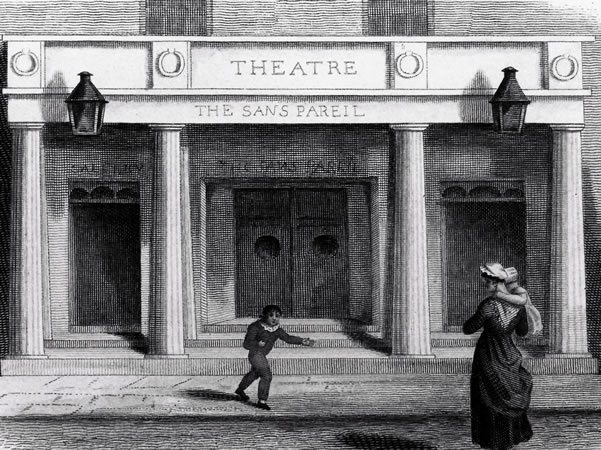 The theatre was founded as the 'Sans Pareil'