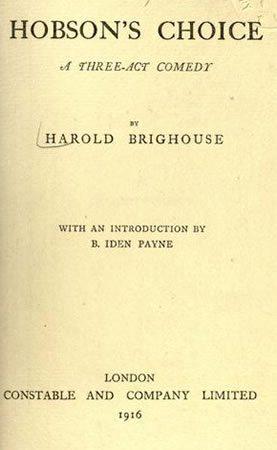 Hobson's Choice premieres