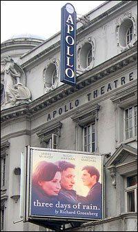 Three Days of Rain opens at the Apollo Theatre