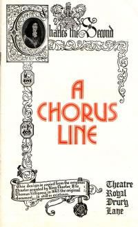 The original London production of 'A Chorus Line' opens