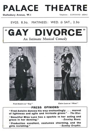 Cole Porter' Gay Divorce opens at the Palace