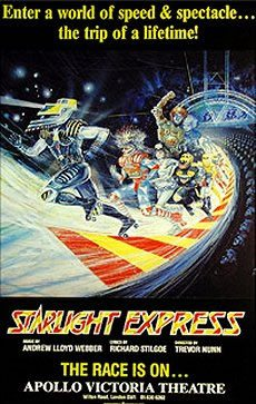 Starlight Express runs at the Apollo Victoria Theatre