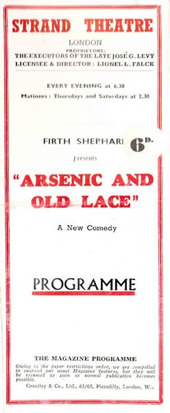 Arsenic and Old Lace breaks records at the Strand