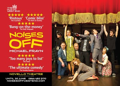 Noises Off transfers from the Old Vic Theatre