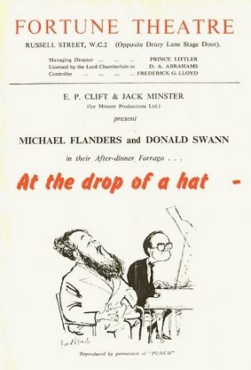 Flanders and Swann perform 'At The Drop of a Hat'