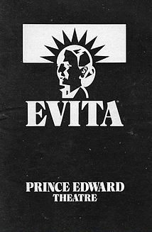 The Prince Edward Theatre and 'Evita'