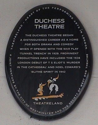 The Duchess Theatre opened