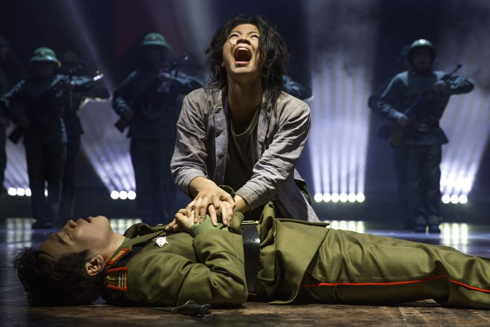 Miss Saigon - Eva Noblezada as Kim and Kwang Ho Hong as Thuy - Photo credit Matthew Murphy