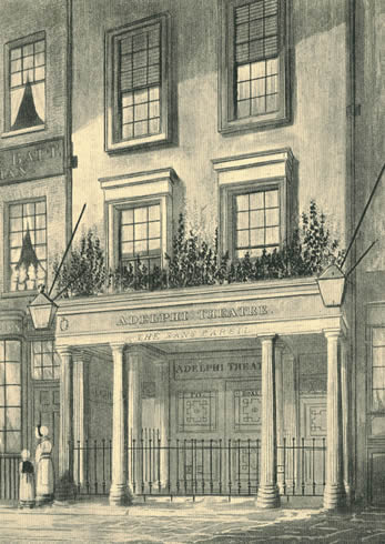 The Sans Pareil was renamed as the Adelphi Theatre