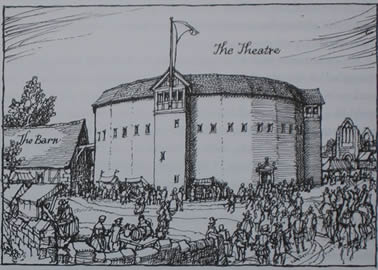 The first permanent theatre was built