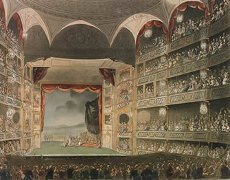 The Theatre Royal Drury Lane was rebuilt