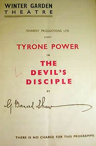 Tyrone Power stars in The Devil's Disciple