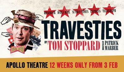 Tom Hollander stars in Travesties