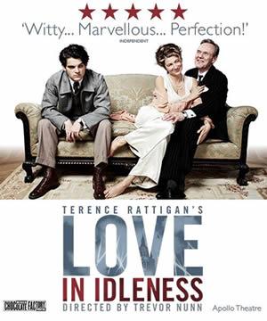 Love in Idleness transfers to the Apollo Theatre