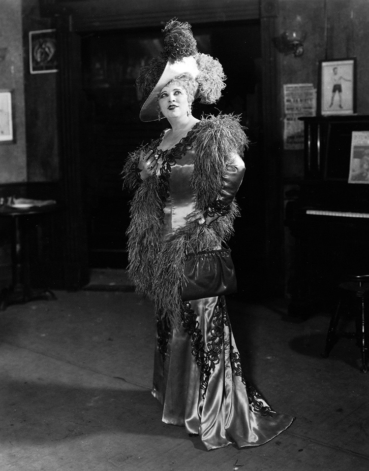 Mae West performs at the Prince of Wales