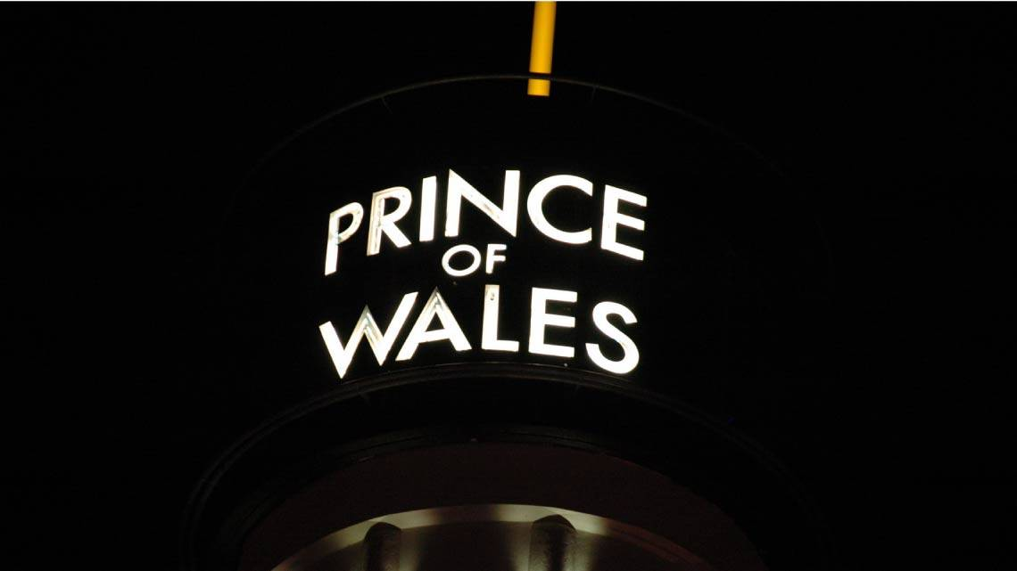 The theatre re-named the Prince of Wales