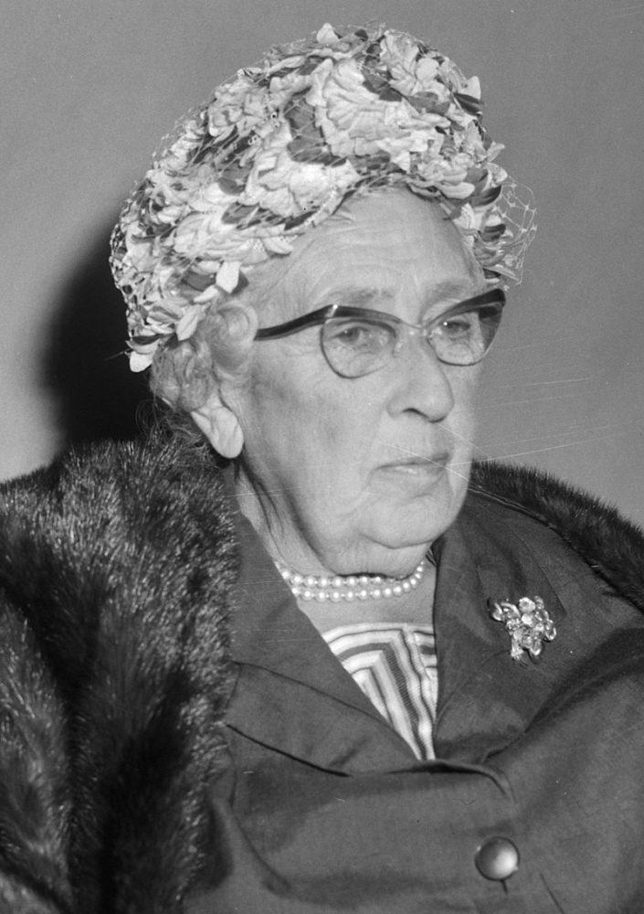 Dame Agatha Christie dies